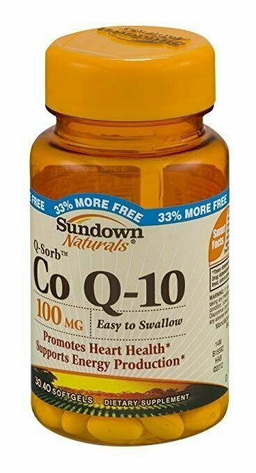 Sundown Naturals Dietary Supplement Co Q-10 100mg - 40 Softgels - usaotc.com