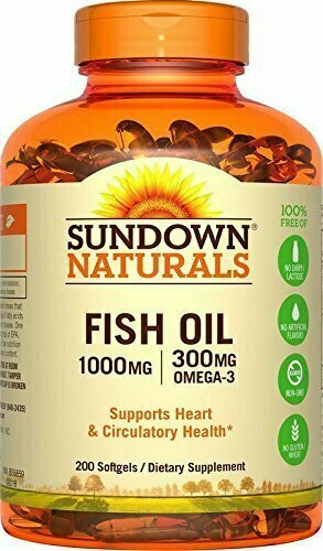 Sundown Naturals Fish Oil 1000 mg, 200 Softgels - usaotc.com