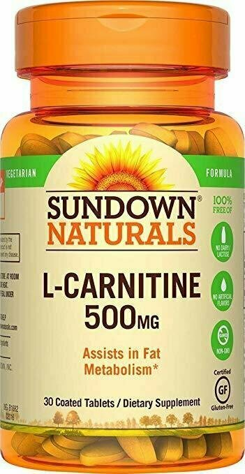 Sundown Naturals L-Carnitine 500 mg, 30 Tablets - usaotc.com