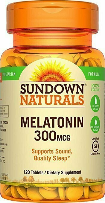 Sundown Naturals Melatonin 300 mcg, 120 Tablets - usaotc.com