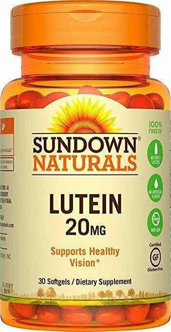 Sundown NaturalsÔøΩÔøΩ Lutein 20mg, 30 Softgels - usaotc.com