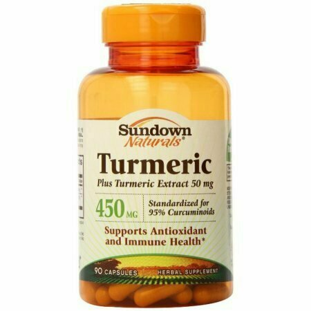 Sundown Naturals Turmeric 450 mg Capsules 90 each - usaotc.com