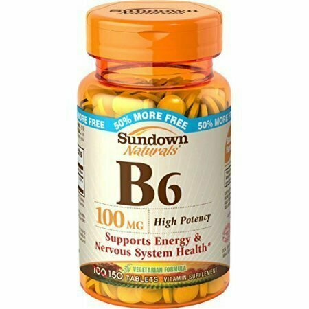 Sundown Naturals Vitamin B-6 100 mg, 150 Tablets Each - usaotc.com