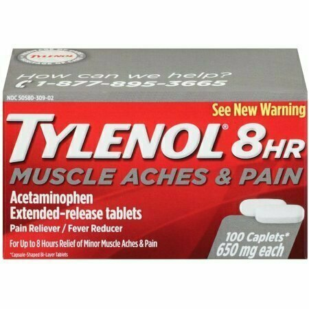 TYLENOL 8 Hour Muscle Aches & Pain Caplets 650 mg 100 each - usaotc.com