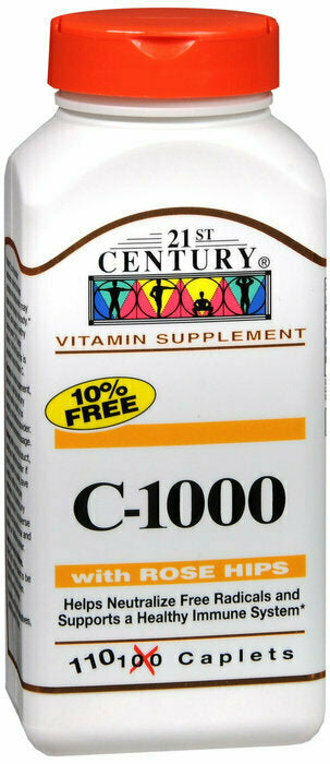 VITAMIN C 1000MG ROSE HIP TABLET 110CT - usaotc.com