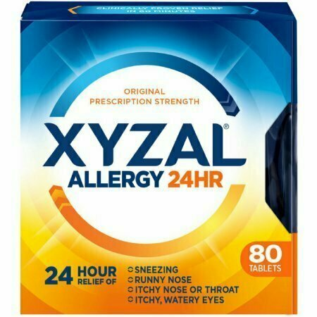 Xyzal 24 Hour Allergy Relief Tablets 80 each - usaotc.com