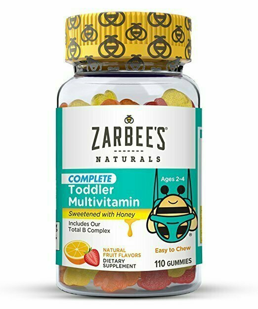 Zarbee's Naturals Toddler Complete Multivitamin Gummies, Natural Fruit Flavors, for Children Ages 2-4, 110 Gummies (1 Bottle) With Essential Vitamins including B-Complex - usaotc.com