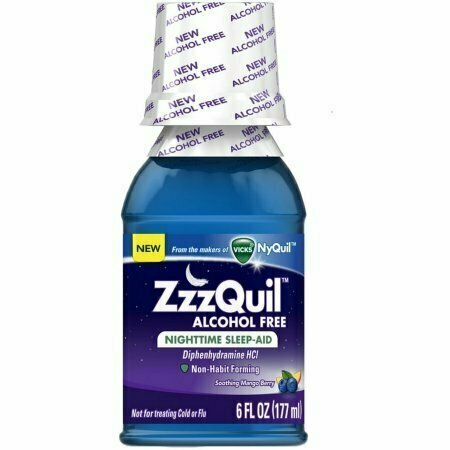 ZzzQuil Alcohol Free Nighttime Sleep Aid, Soothing Mango Berry 6 oz - usaotc.com
