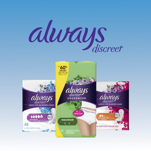 Now Offering Always Discreet Bladder Protection Products