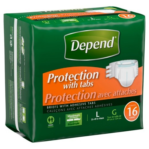 Depend Protection Tabbed Briefs