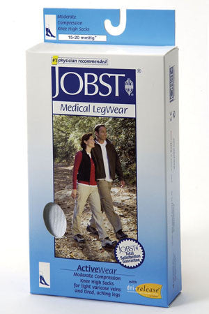 Jobst Unisex ACTIVEWEAR, Knee High Closed Toe 15-20 mmHg