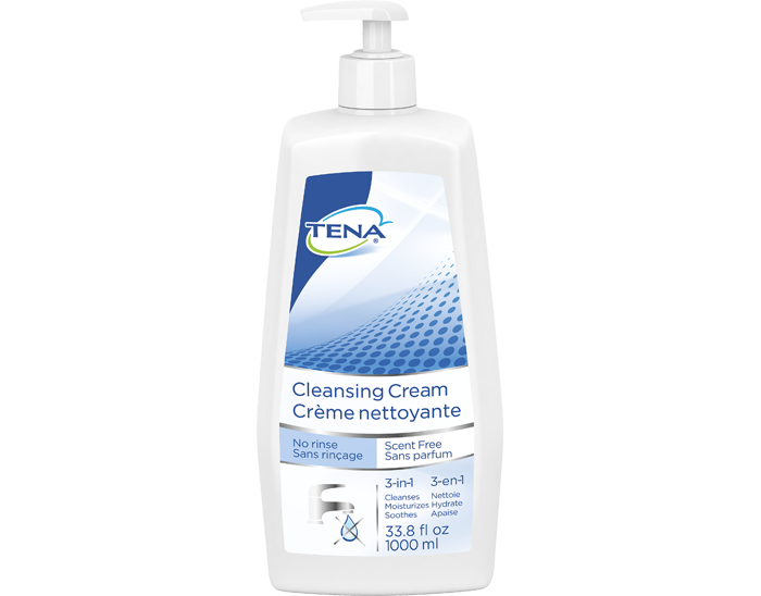 TENA 1000ml Scent Free Cleansing Cream Washcream