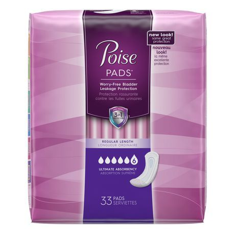 Poise Ultimate Coverage Regular Length Pads