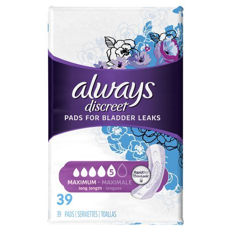 Always Discreet Maximum Long Length Pads - 39 pack