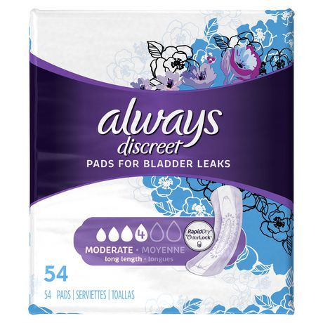 Always Discreet Moderate Long Length Pads