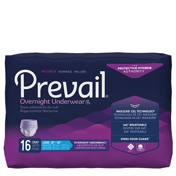 Prevail for Women Overnight Absorbency Underwear