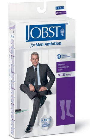 Jobst ForMen Ambition, Knee High Closed Toe 15-20 mmHg
