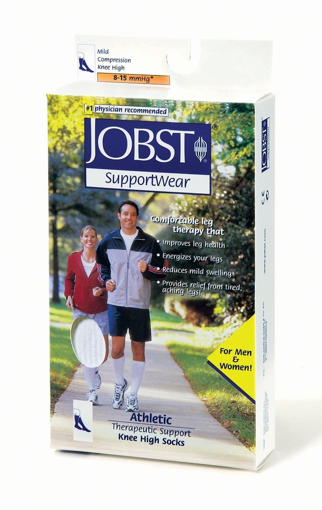 Jobst Athletic Sock, Knee High Closed Toe 8-15 mmHg