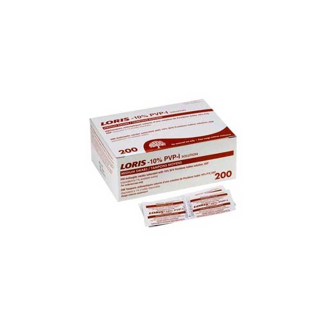 Loris 10% PVP Swabs with 1% Iodine - 200/box
