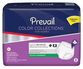 Prevail for Women Maximum Absorbency Color Collection Underwear