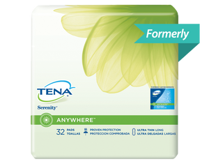 TENA New Moderate Thin Pads Long