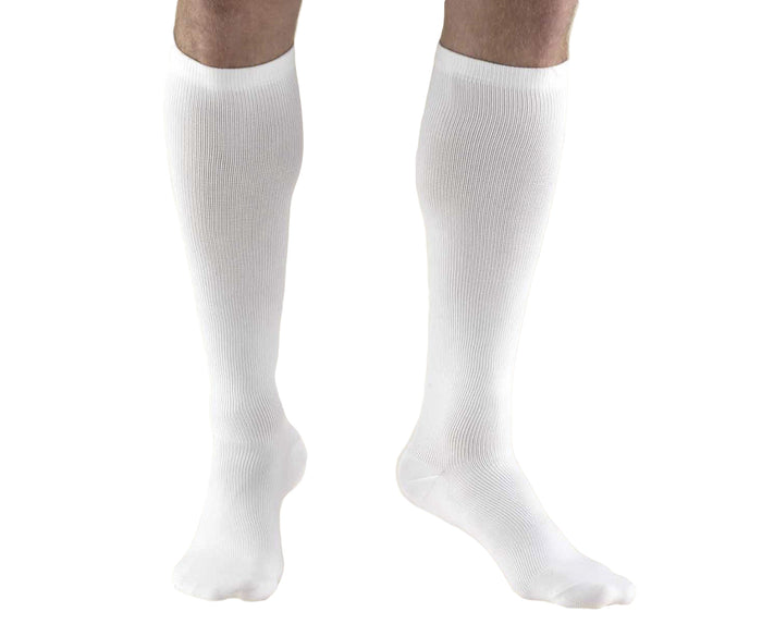 Truform Compression Dress Socks for Men, Knee High Closed Toe 15-20mmHg
