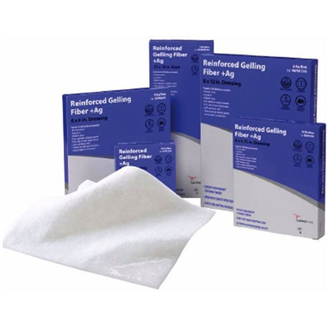 Cardinal Health™ Reinforced Gelling Fibre, Ionic Silver Complex, Alginate Dressing