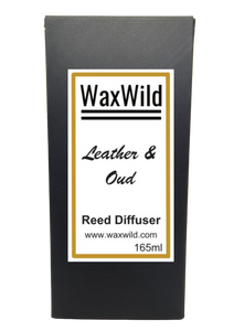 leather & oud reed diffuser