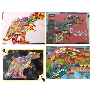 MiDeer 280pcs Jigsaw Puzzle Children's Intelligence Dinosaur Puzzle Paper Early Education Toys Toys for Children Boys  >3Y