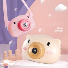 Load image into Gallery viewer, Automatic Cute Cartoon Pig Animal Soap Children Bubble Maker Camera Bath Wrap Machine Toys for Kids Girls Baby Music Outdoor #S