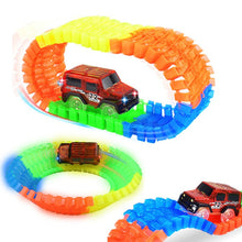 Load image into Gallery viewer, 2020 Railway Magical Racing Track Play Set Educational DIY Bend Flexible Race Track Electronic Flash Light Car Toys For children