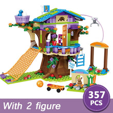 Load image into Gallery viewer, 357pcs Friends Adventure Camp Tree House Emma Mia Building Bricks Figure Toy For Children Compatible With Lepining For Girls