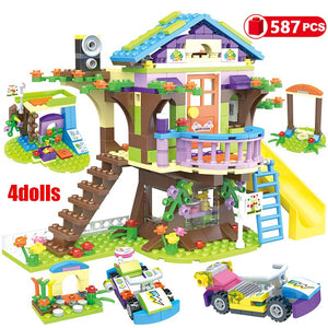 868pcs Building Blocks Girls Friendship House Stacking Bricks Compatible Girls Friends Kids Toys for Children