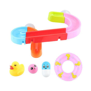 Baby Bath Toys DIY Assembling Track Slide Suction Cup Orbits Toy Bathroom Bathtub Children Play Water Games Set for 3-6 years