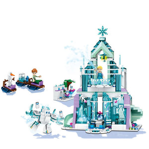 2020 Princess Snow Queen Ice Castle Snow Figures Building Blocks Toy Compatible Lepining Friends City Bricks Toys For Children