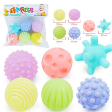Load image into Gallery viewer, Baby Soft Rubber Ball Toys Puzzle Touch Multi-texture Kids Hand Catch Pinch Pressure Ball Toy Children Learn Climb Fitness Ball