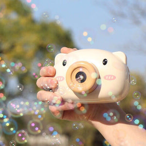 Automatic Cute Cartoon Pig Animal Soap Children Bubble Maker Camera Bath Wrap Machine Toys for Kids Girls Baby Music Outdoor #S