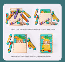 Load image into Gallery viewer, Kids Brain Wooden Toy Double-sided 3D Puzzle Creative Strip Puzzle Telling Stories Stacking Jigsaw Montessori Toy for Children