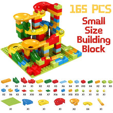 Load image into Gallery viewer, 330PCS Building Bricks Mini Marble Race Run Building Blocks DIY Funnel Slide Constructor Gift Toys for Children Kids