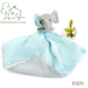 Luxury Newborn Baby Comforter Toys Lovely Cartoon Elephant Soft Plush Toy Ecofriendly Cotton Multifunction Saliva Towel for Kids