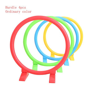 Happymaty Child Hurdle Kindergarten Plastic Hoop Toy Drill Hole Arched Door Outdoor Activity Equipment Sports Toys for Kids zd02