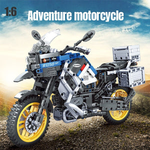 ERBO Technic Motorcycle car Model building blocks Speed Racing car City Vehicle MOC Motorbike bricks Kits toys for children boys