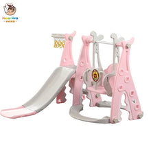 Load image into Gallery viewer, Baby Swing Chair Music Slide Combination Shoot Basketball Story Music Learning Machine Cartoon Set Kids Gift Toys for Baby Child