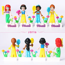 Load image into Gallery viewer, 8pcs Fairy Tale Princess Girl Model Building Kits Doll Figures Bricks Blocks Kid Compatible Lepining Friends Children Toys