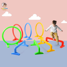 Load image into Gallery viewer, Happymaty Child Hurdle Kindergarten Plastic Hoop Toy Drill Hole Arched Door Outdoor Activity Equipment Sports Toys for Kids zd02
