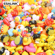 Load image into Gallery viewer, ESALINK 15PCS  Random Mini Colorful Rubber Float Squeaky Sound Duck Bath Toy Baby Water Pool Funny Toys for Girls Boys Gifts