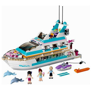 Girl Building Blocks Holiday Boat 3D Building Blocks Children's Toys Compatible With Lepining Friends Gifts Toys