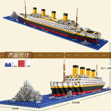 Load image into Gallery viewer, 1860 Pcs NO Match Lepining Friends RS Titanic Sets Cruise Ship Model Boat DIY Building Diamond Mini Blocks Children Kids Toys