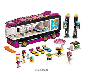 684Pcs Pop Star Tour Bus 10407 Friends Series Building Blocks Toys For Children Compatible With Lepining 41106 (without original box)
