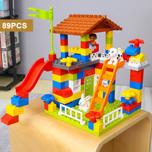 Load image into Gallery viewer, QWZ New Castle Big Size Building Blocks Compatible Duploed Construction Block DIY Amusement Park Brick Toys For Children Gifts